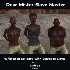 A stand against Slavery, Dear Mister Slave Master